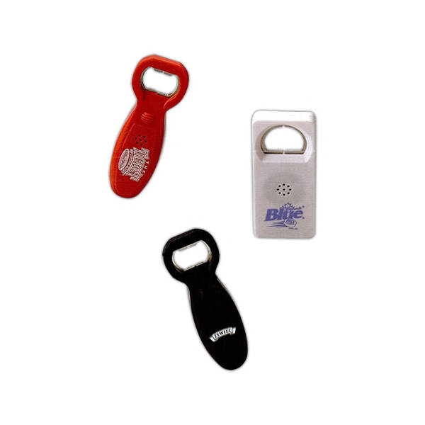 bottle openers with sound imprinted bottle openers with. Black Bedroom Furniture Sets. Home Design Ideas